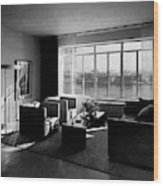 Living Room In The Ny Home Of Edward M. M Wood Print