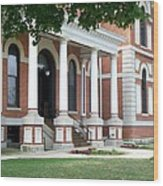 Livingston County Courthouse 05 Pontiac Il Wood Print