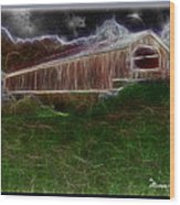 Livingston Manor Covered Bridge - Featured In Comfortable Art Group Wood Print