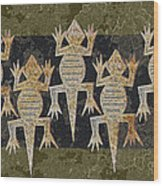 Lizards On The Wall Wood Print