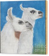 Llamas Tracks Farm Ranch Animal Art Camelid Wood Print
