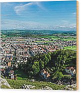 Llandudno Panorama Wood Print