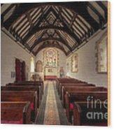 Llandysilio Traean Wood Print by Adrian Evans