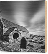 Llangelynnin Church Wood Print by Dave Bowman