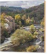 Llangollen And The River Dee Wood Print