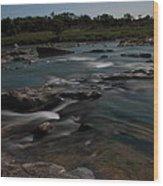 Llano River 2am-105143 Wood Print