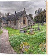 Llantysilio Church Wood Print by Adrian Evans