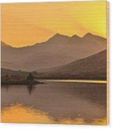 Llynnau Mymbyr Snowdon In The Distance  Wood Print