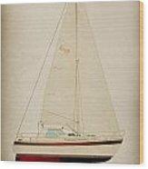 Lm Historic Sailboat Wood Print