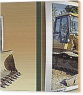 Loader - Cross Your Eyes And Focus On The Middle Image Wood Print