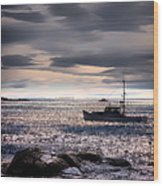 Lobster Boat Wood Print