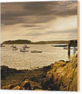 Lobster Boats Cape Porpoise Maine Wood Print