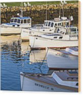Lobster Boats - Perkins Cove -maine Wood Print