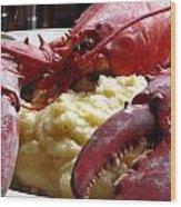 Lobster Dinner Wood Print