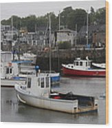 Lobster Fleet Rockport Harbor Wood Print