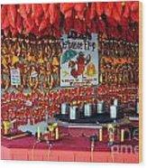 Lobster Flop Wood Print by Skip Willits