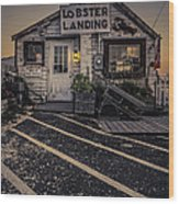 Lobster Landing Shack Restaurant At Sunset Wood Print