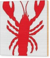 Lobster Love Heart Feelers Wood Print