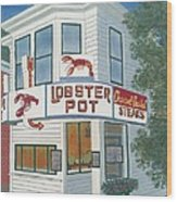 Lobster Pot Wood Print