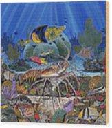 Lobster Sanctuary Re0016 Wood Print