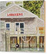 Lobster Shack Wood Print