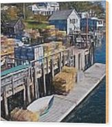 Lobster Traps At New Harbor Wood Print