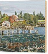 Lobster Village In Autumn, Southwest Wood Print