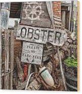 Lobster's Here Wood Print