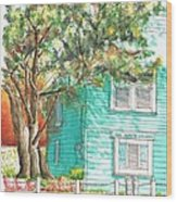 Local Artists Gallery, Monterey, California Wood Print