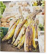 Local Asian Market Wood Print