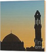 Local Cairo Mosque 03 Wood Print