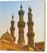 Local Cairo Mosque 05 Wood Print