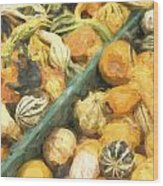 Local Glazed Gourds Painterly Effect Wood Print