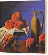 Local Peaches Oil Painting Wood Print
