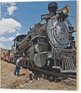Locomotive Engineer Wood Print