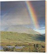 Loch Ba Rainbow Wood Print