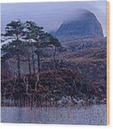 Loch Druim Suardalain Wood Print