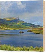 Loch Fada To The Storr Wood Print