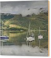 Loch Leven Sailboats Wood Print
