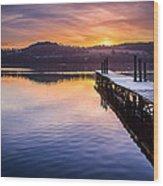 Loch Lomond Dawn Wood Print