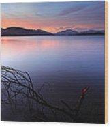 Loch Lomond Sunset Wood Print