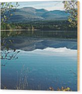 Loch Morlich - Autumn Wood Print