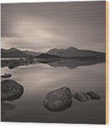 Loch Nah Achlaise Dawn Wood Print