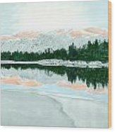 Loch Ossian Wood Print