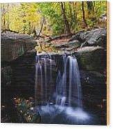 Loch Waterfall Wood Print