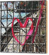 Lock And Love.cinque Terre.italy Wood Print