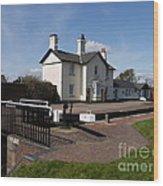 Lock Cottages Wood Print