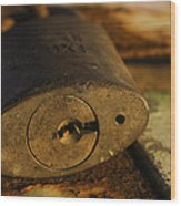Lock Wood Print by Jennifer Burley