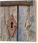 Lock Wood Print