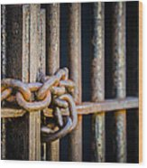 Locked Out Wood Print